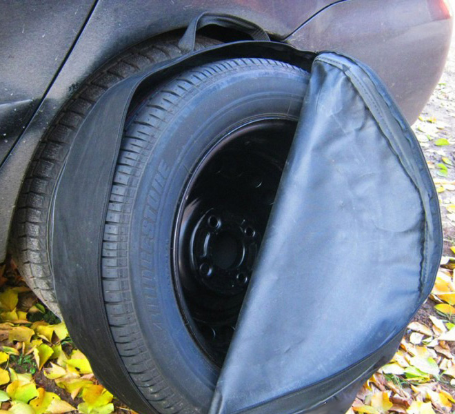 Сшить чехол на колесо машины