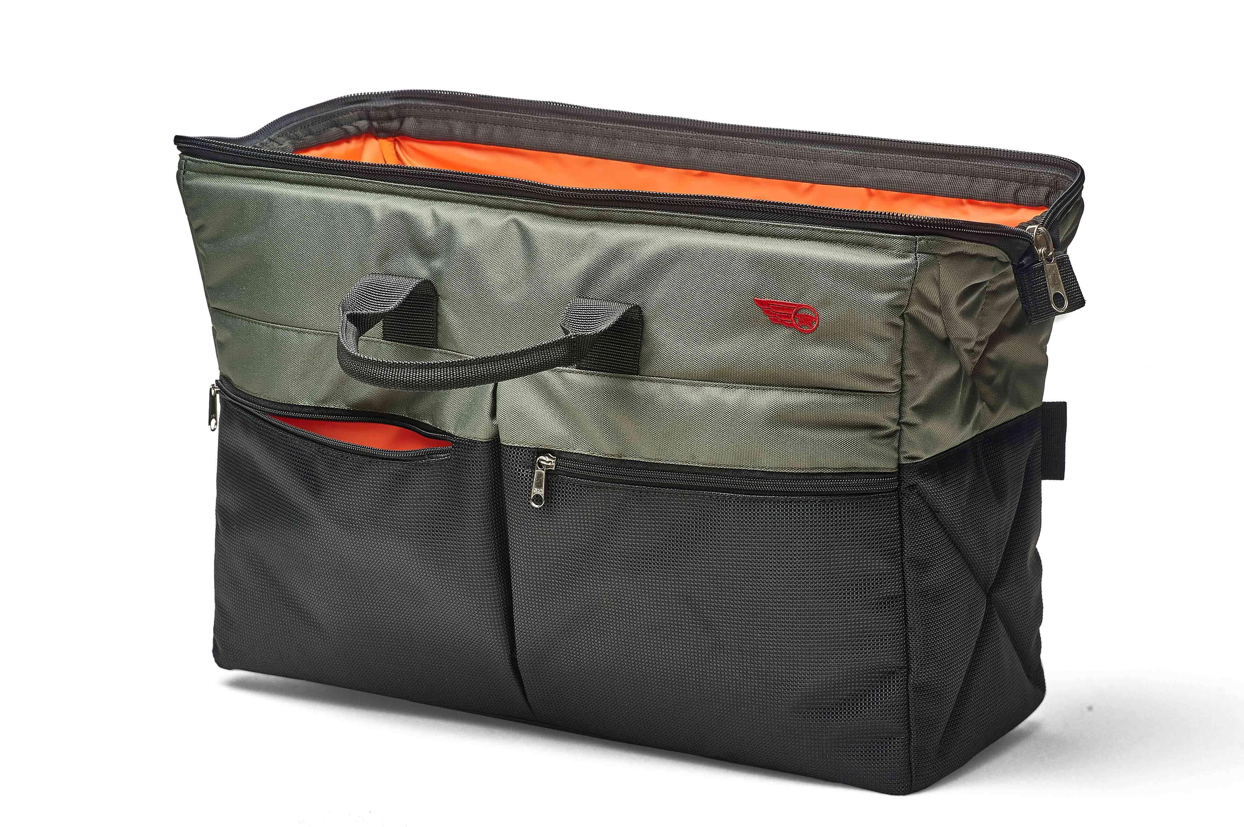 1449875b6a80 Дорожная сумка-органайзер для автомобиля ТрендБай Дампин 35, черный/зеленый