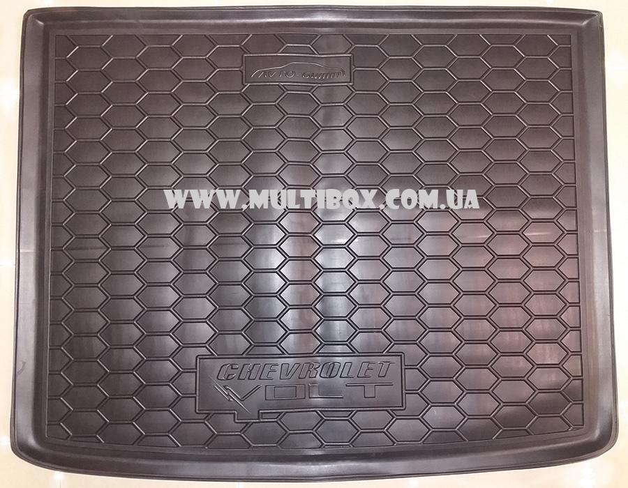 Резиновый коврик Avto-Gumm с бортиком в багажник автомобиля Chevrolet Volt.